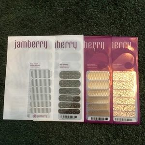 Jamberry Nail Wrap Bundle metallics